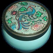 Avon Bird of Paradise Jar Metal Lid SKin Softener Empty