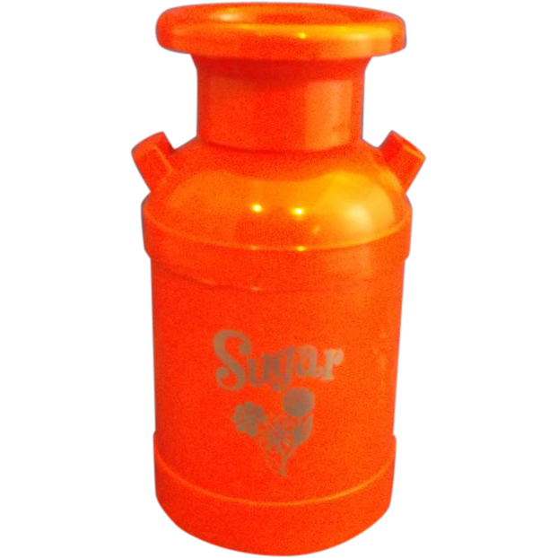 Orange Milk Can Plastic Sugar Shaker D M Plastics Broken Arrow Oklahoma