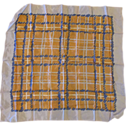 Burmel Blue Brown Plaid Acetate Rain Scarf
