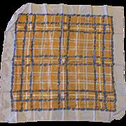Burmel Blue Brown Plaid Acetate Rain Scarf