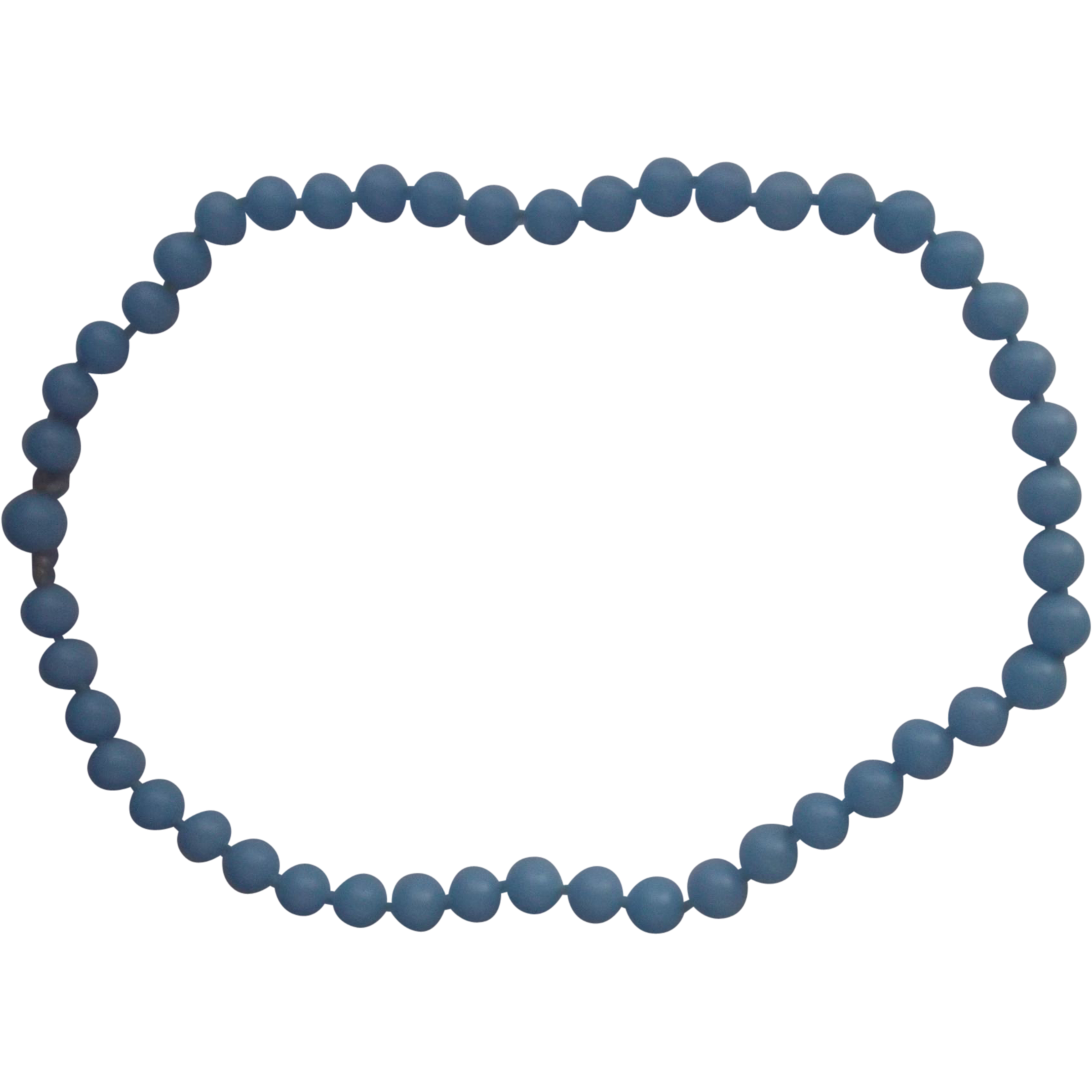 Crown Trifari Blue Lucite Bead Necklace