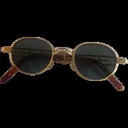 Gold Tone Matte Round Frame Sunglasses Korea Architectural Frames