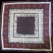 Esprit Burgundy Silk Scarf Floral Square