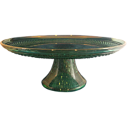 Wexford Emerald Green Cake Stand Anchor Hocking