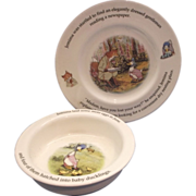 Royal Doulton World of Beatrix Potter Elegantly Dressed Plate Jemima Duck Bowl
