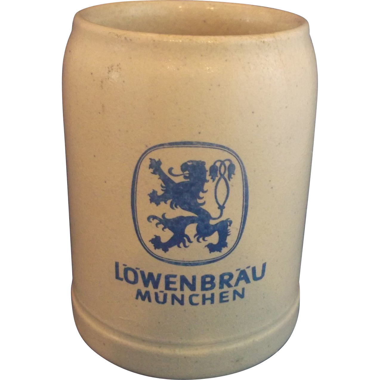 Lowenbrau Munchen .5L Salt Glazed Beer Stein Germany