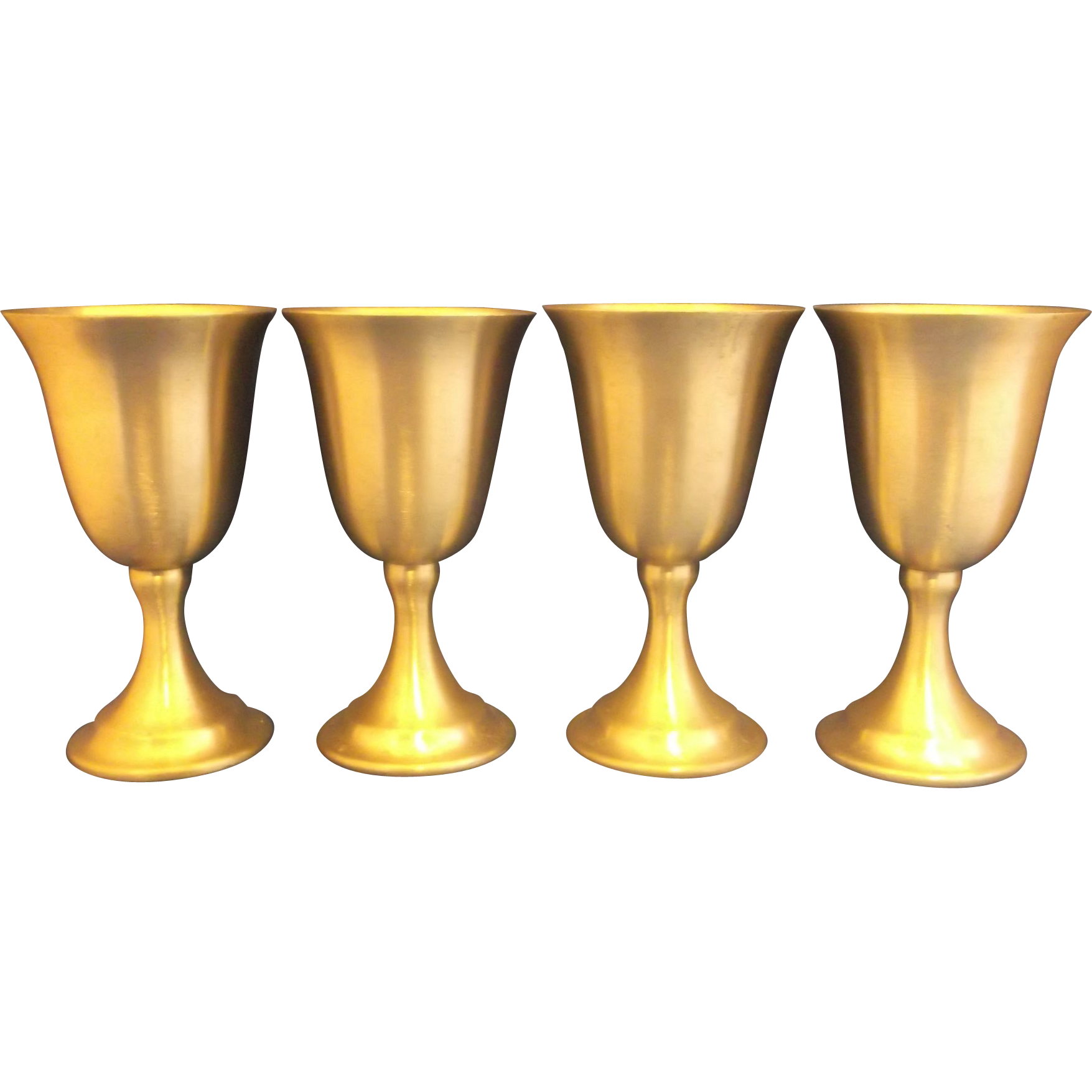 Leonard Weighted Pewter Bolivia Goblets Set of 4
