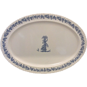 Blue White Melmac Platter Wedgwood Style Classic by Mallory