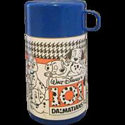 101 Dalmatians Blue Thermos 1990 Aladdin