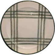 Royal China Green Plaid Bonnie Sonja Chop Plate Round Platter 13""