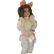 Dianna Effner Mother Goose Little Girl With A Curl Edwin Knowles Porcelain Doll 1991