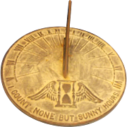 Virginia Metalcrafters Cast Iron Sundial I Count None But Sunny Hours