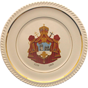 Serbian Orthodox Church 750th Anniversary W.C. Bunting Commemorative Plate