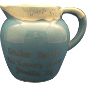 Paden City Pottery Artware Blue Drip Creamer Souvenir Cracker Barrel Old Country Store Franklin, Ky