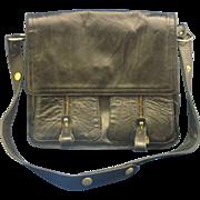 Dofan Black Leather Cross Body Saddlebag Messenger Bag Style Purse France - Red Tag Sale Item