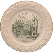 Homer Laughlin Green Transferware First Methodist Church South Bend, Indiana