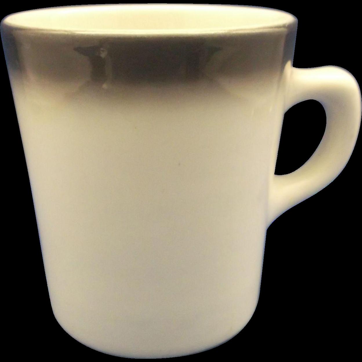 Restaurant Ware Mug Black Fade Ombre Rim