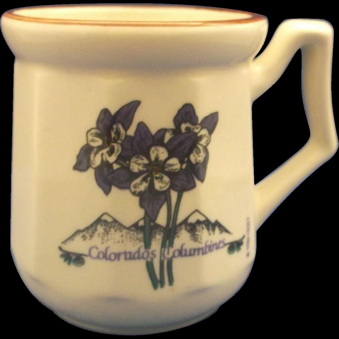 Colorado's Columbines Stoneware Mug