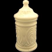 Atterbury Scroll White Milk Glass Apothecary Jar - Red Tag Sale Item