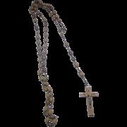Olive Wood Rosary Jerusalem Oval Beads