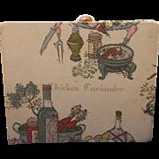 Georges Briard Designs Fabric Covered Cardboard Recipe Accordion File