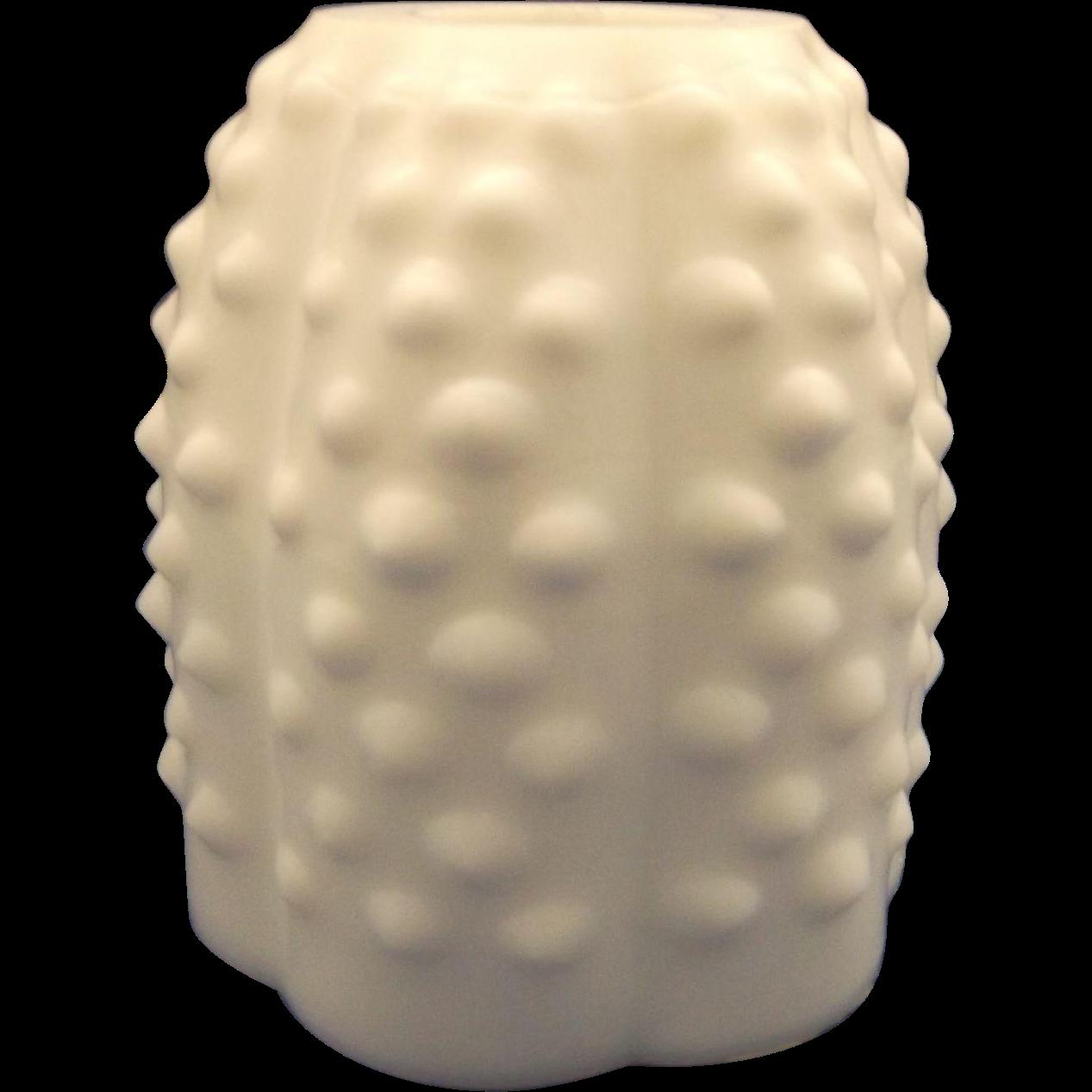 Fenton Hobnail White Milk Glass Fairy Lamp Globe Top Only