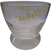 Eva Ziesel Lo-Ball Glass Yellow Print Federal Glass