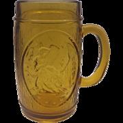 Betsy Ross Amber Glass Bicentennial Mug Stein