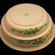 Oven Serve Homer Laughlin Embossed Green Roses Flowers Pie Plates Pair