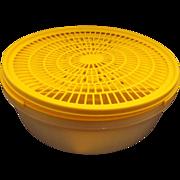 Tupperware Bright Yellow Sheer White Slicer Grater Strainer Colander Set