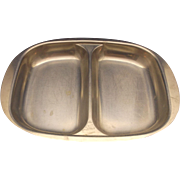 Cultura 18-8 Stainless Sweden Midcentury Modern Divided Bowl