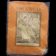 Folkwear Uncut Sewing Pattern Edwardian Garden Party Dress 220 D Women's Sizes 8-14