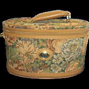 Diane Von Furstenberg Tapestry Train Case Overnight Bag Oval Luggage 1980s