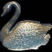 Swan Figural Napkin Holder Silver Plate Hong Kong