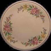 Spring Wreath Bright Floral Cake Plate Kitchen Kraft  Homer Laughlin