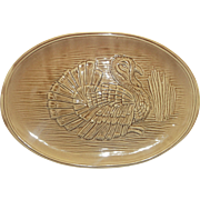 McCoy Brown Turkey Platter 9370 Made in USA 16 IN