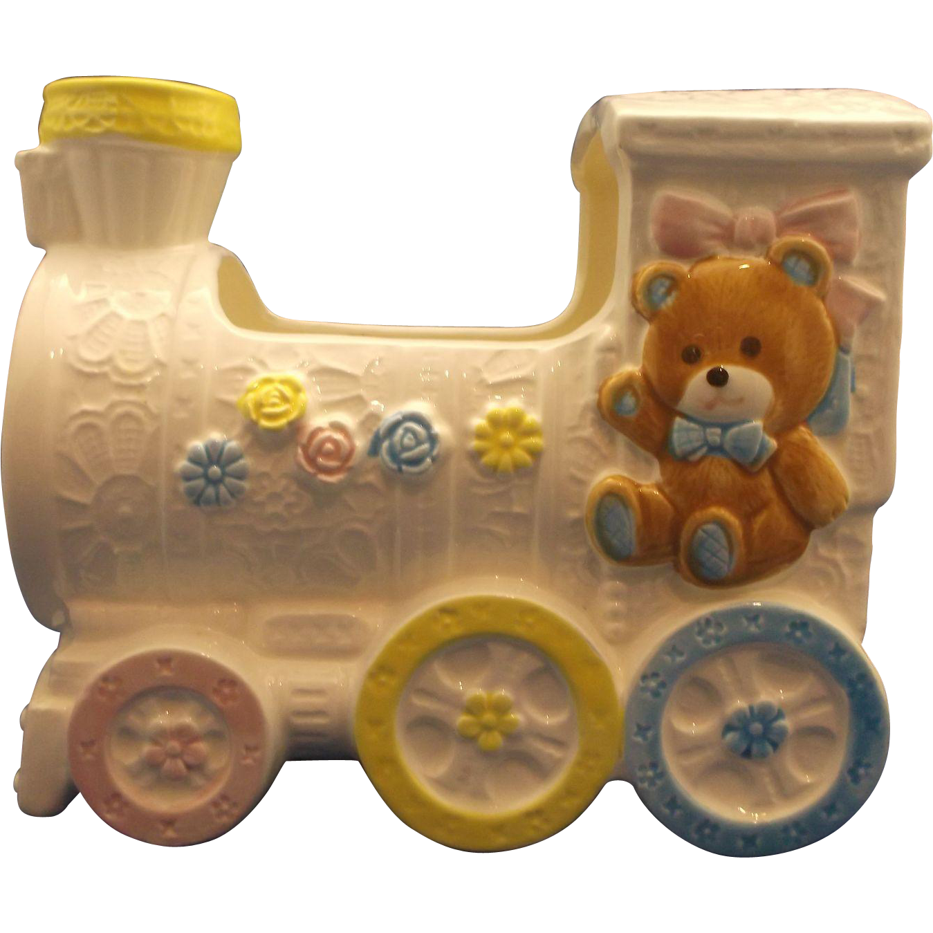 Nancy Pew Giftwares Train Baby Planter