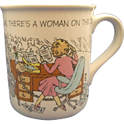 Hallmark Mug Mates 1986 Relax There's a Woman on the Job