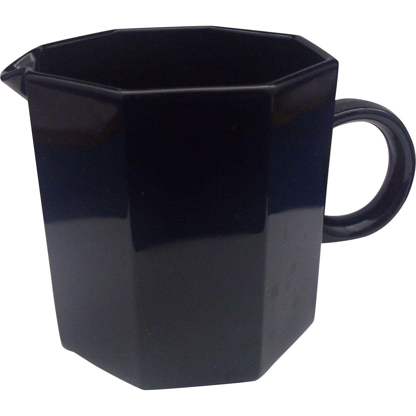 Arcoroc Octime Creamer Black Glass France