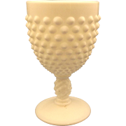 Fenton Hobnail White Milk Glass Footed Water Goblet