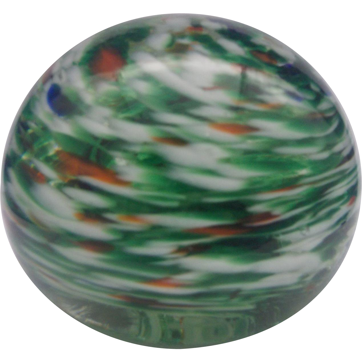 Royal Roy-Al 1970 Art Glass Swirled Paperweight Ball