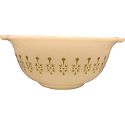 White Green Pattern Small Cinderella Mixing Bowl Glass