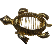 Turtle Open Back Wire Gold Tone Pin
