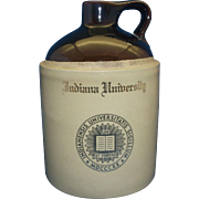 Indiana University Souvenir Advertising Decorated Stoneware Jug Crock