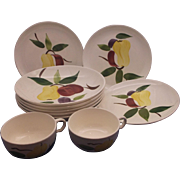 Stetson Rio Fruit Pattern Soup Bowls Salad Plates Cups Set 10 Pieces