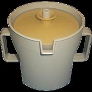 Tupperware Gold and Tan Push-Button Lid Sugar Bowl