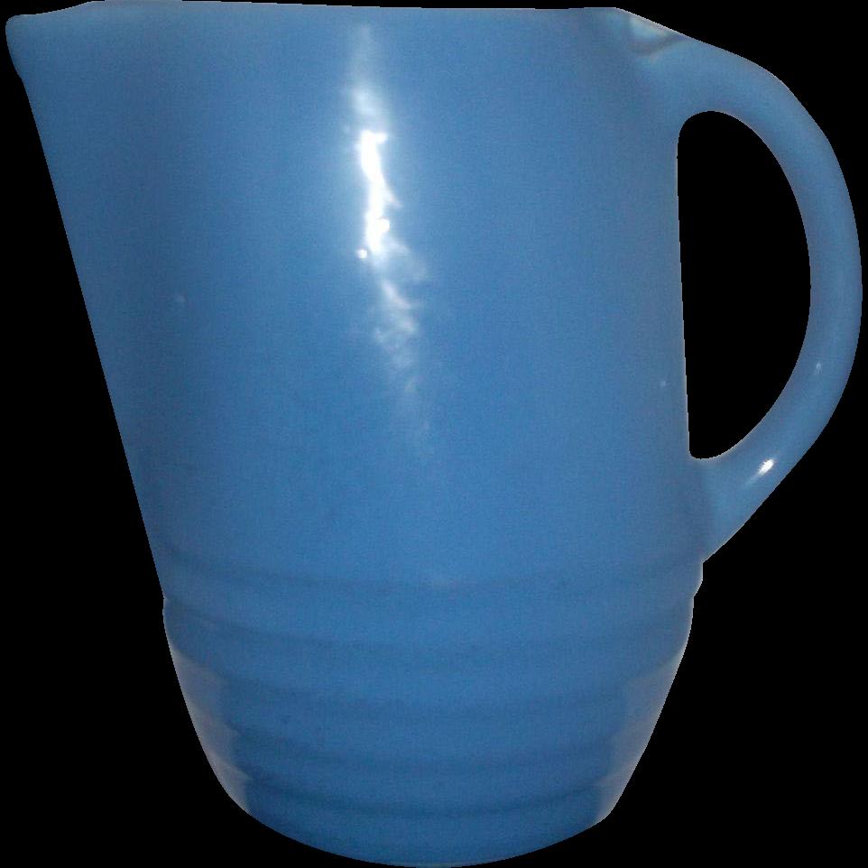 Universal Potteries Cornflower Blue Water Jug Pitcher