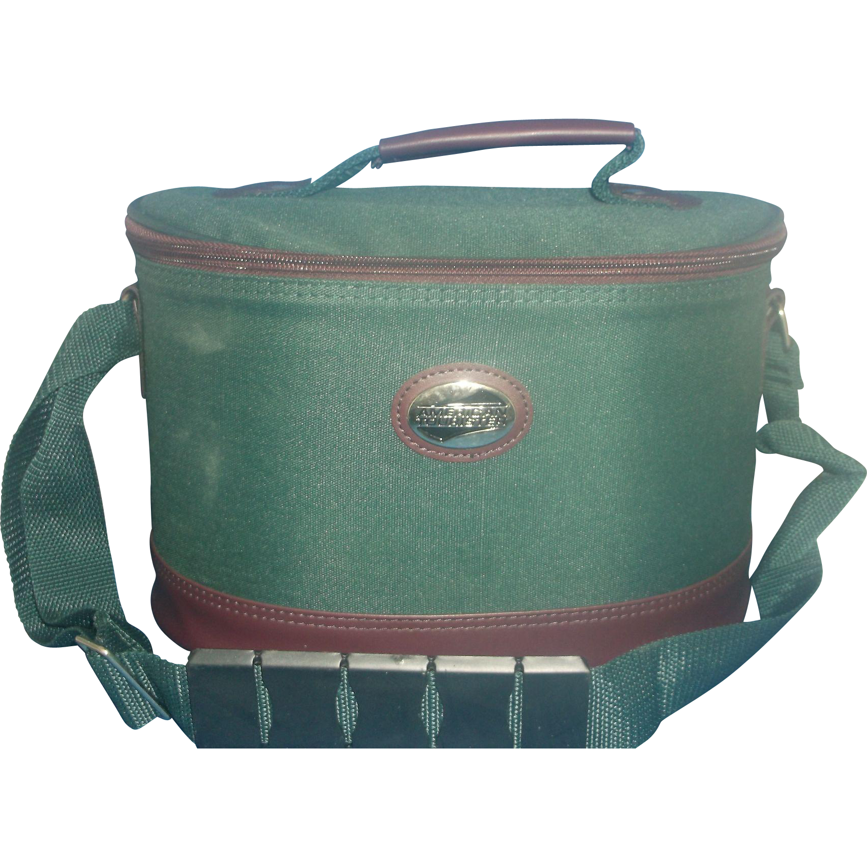 American Tourister Green Oval Train Case