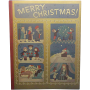 Merry Christmas 1943 First Edition Book Illustrations by Natasha Simkhovitch