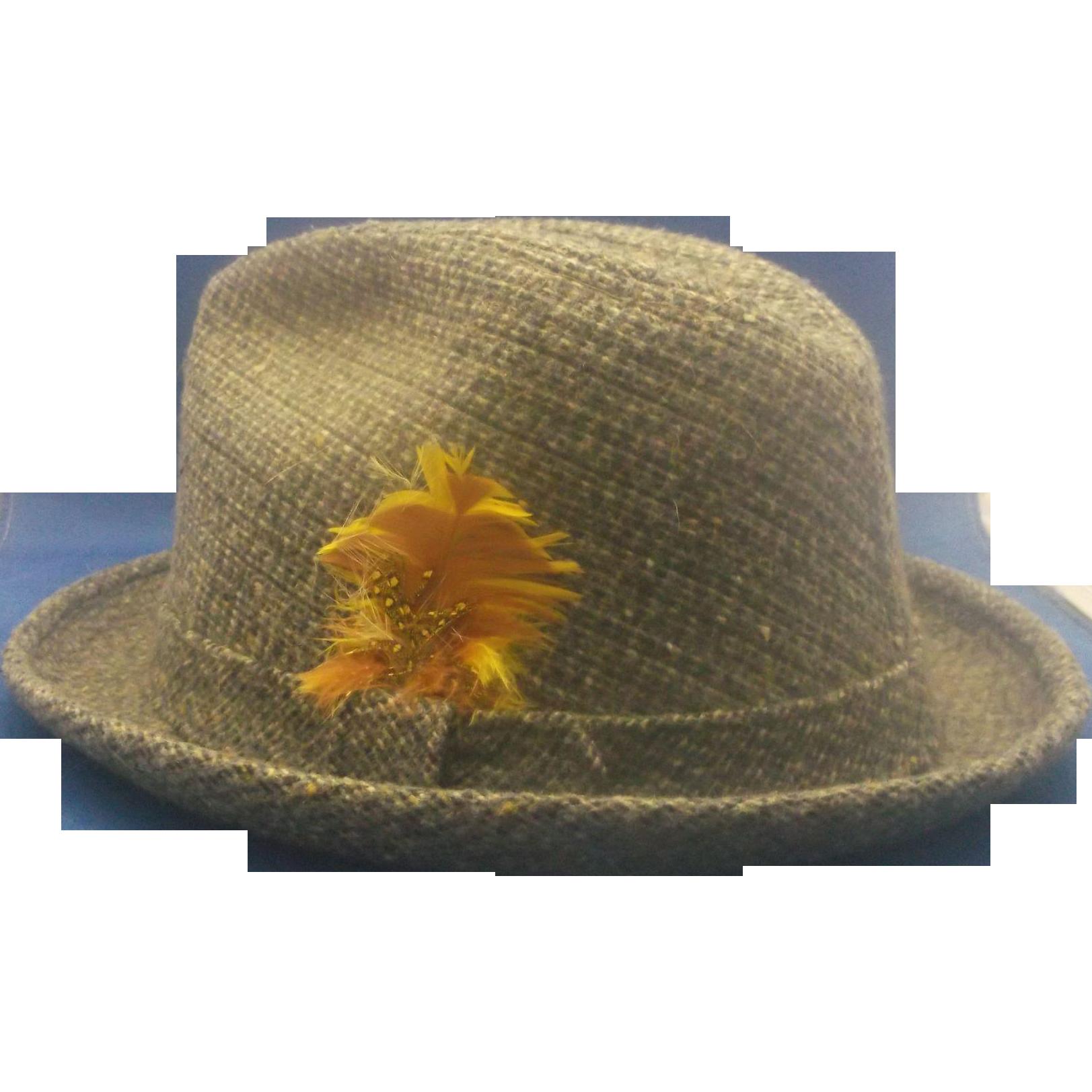 Stetson Equalizer Men's Fedora Tweed Hat Size XL
